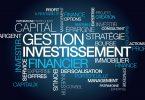 Gestion investissement financier nuage de mots illustration